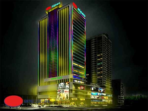 Đèn Led thanh trang trí tòa nhà