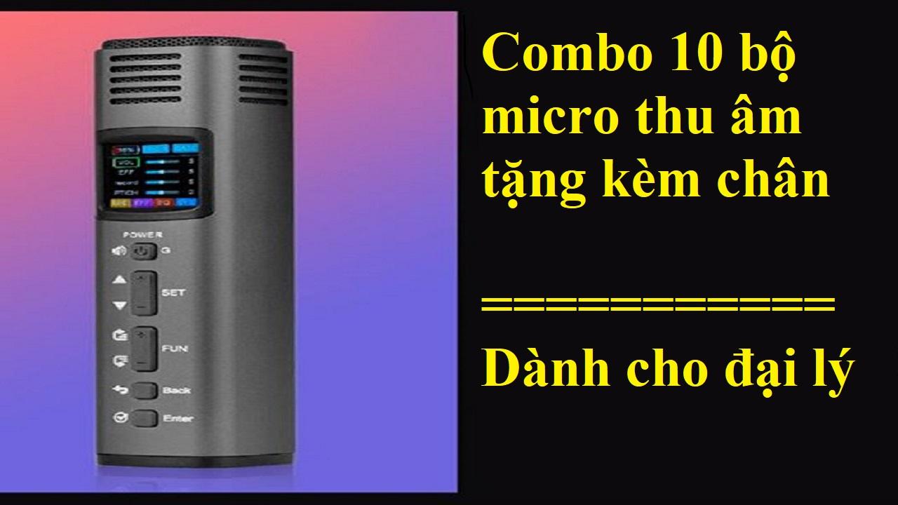 Hot Sale: 10 Bộ Micro Thu Âm LiveStream HK620 Giá Sỉ (Tặng Kèm Chân Micro)