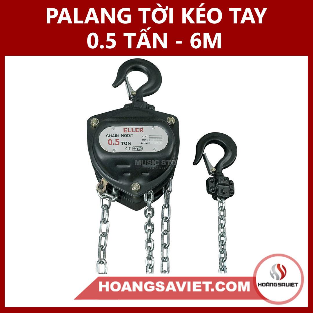 Palang Tời Kéo Tay 0.5 Tấn (500Kg) - 6M