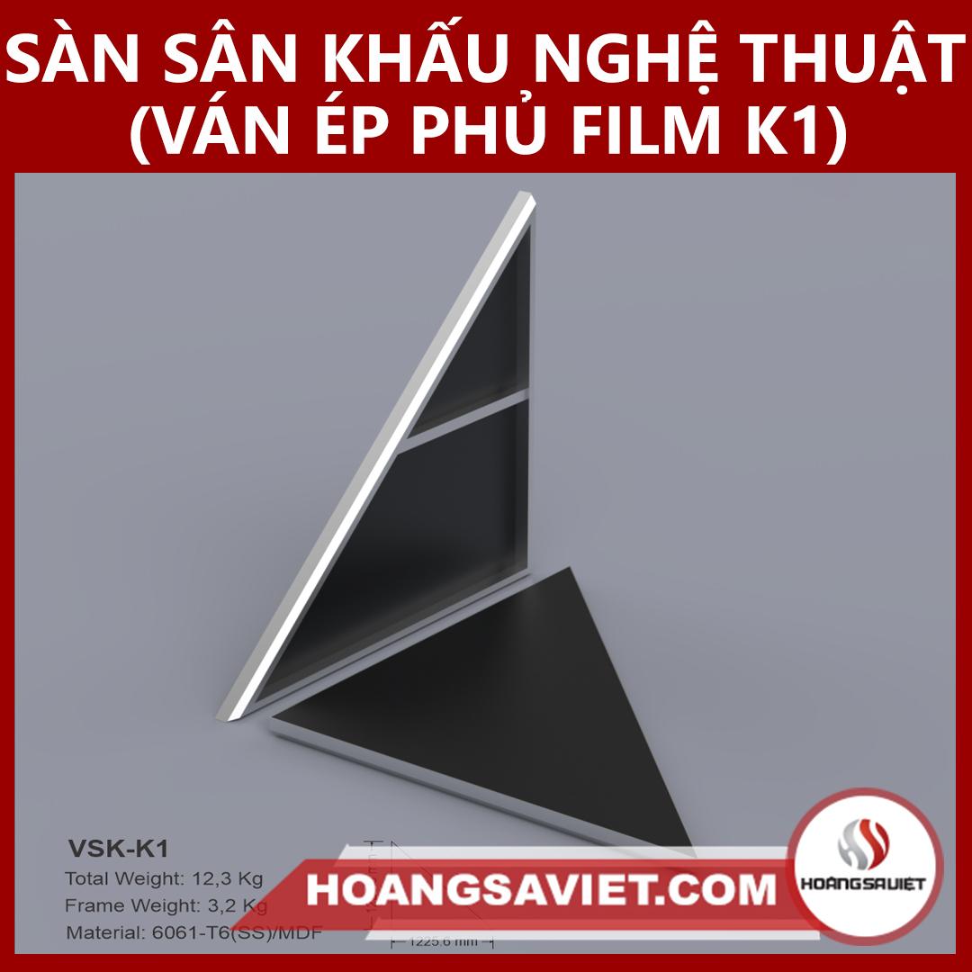 Tấm Sàn Sân Khấu Kiểu Nghệ Thuật Ván Ép Phủ Film K1
