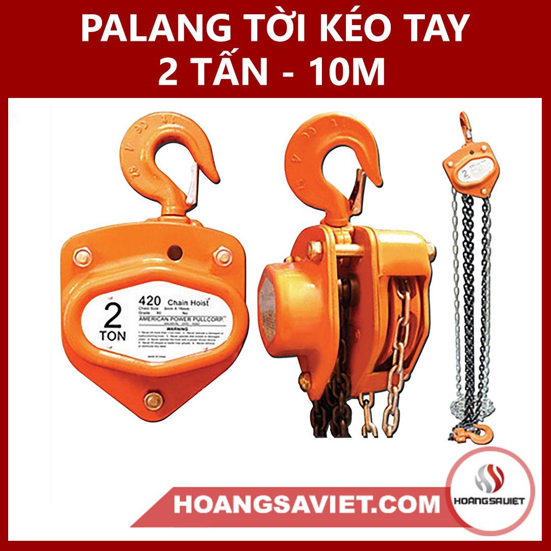 Palang Tời Kéo Tay 2 Tấn (2000Kg) - 10M