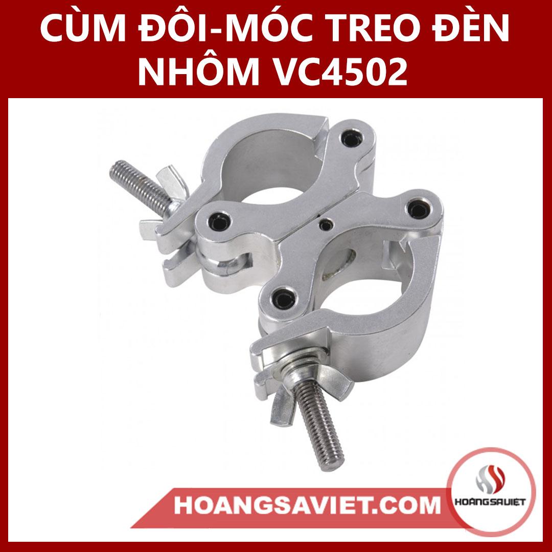 Cùm Đôi & Móc Treo Đèn Nhôm VC4502