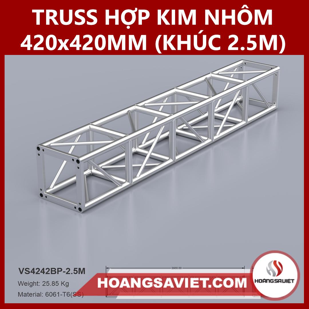 Khung Truss Hợp Kim Nhôm 420x420mm (Khúc 2.5m) VS4242BP_2.5m