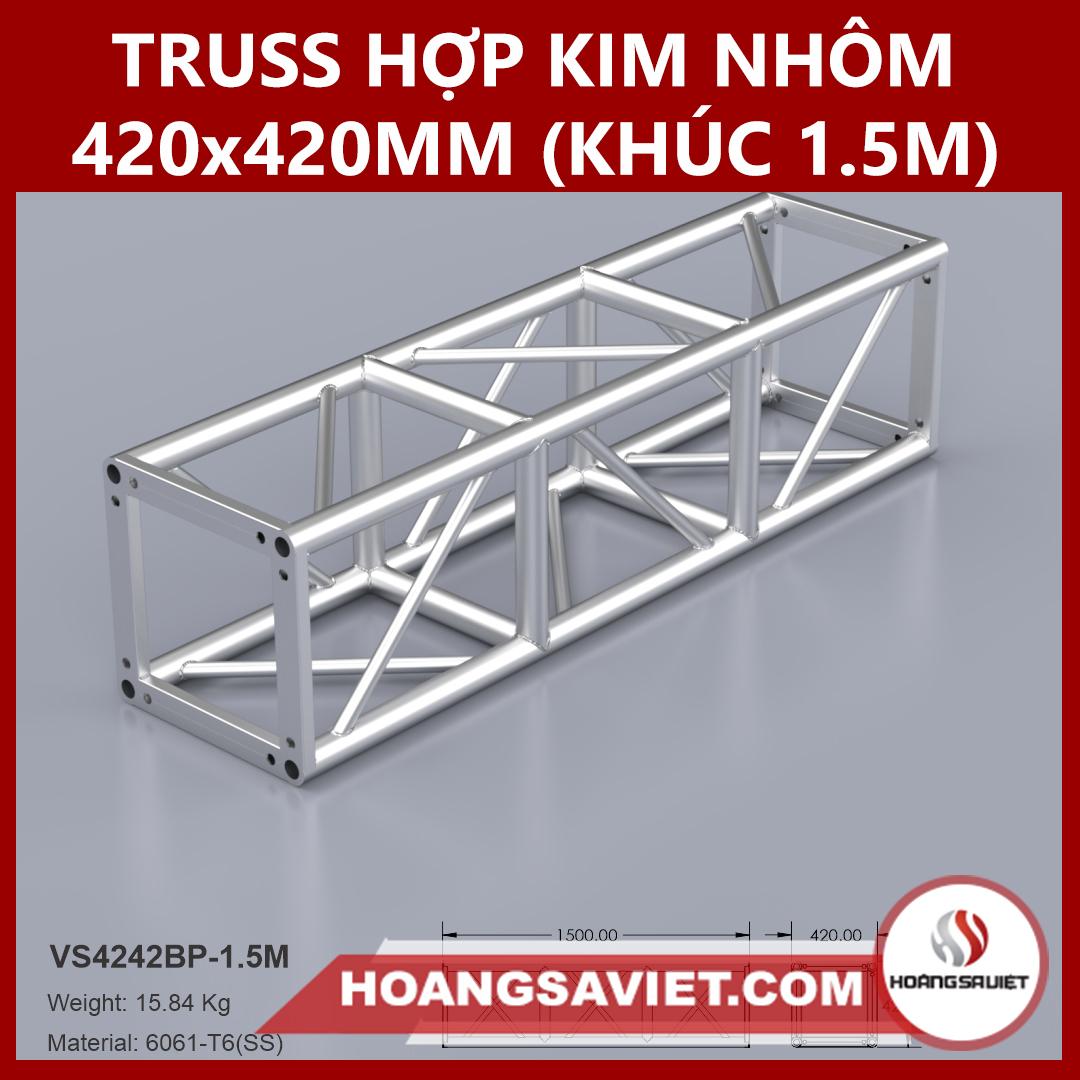 Khung Truss Hợp Kim Nhôm 420x420mm (Khúc 1.5m) VS4242BP_1.5m