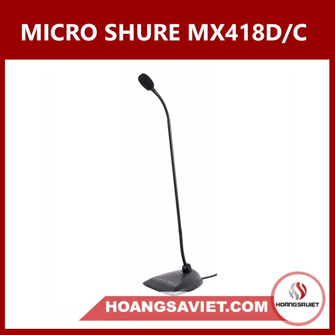 Micro Cổ Ngỗng Shure MX418D/C