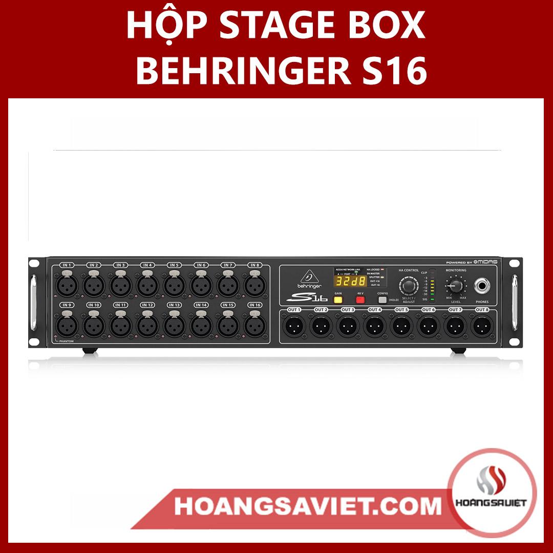 Hộp Stage Box Behringer S16 (Hộp Nối Dài Tín Hiệu)