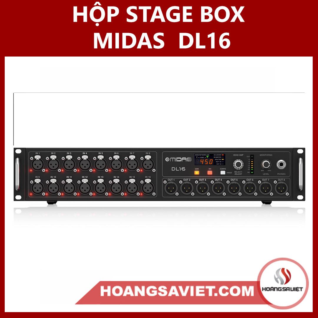 Hộp Stage Box Midas DL16 (Hộp Nối Dài Tín Hiệu)