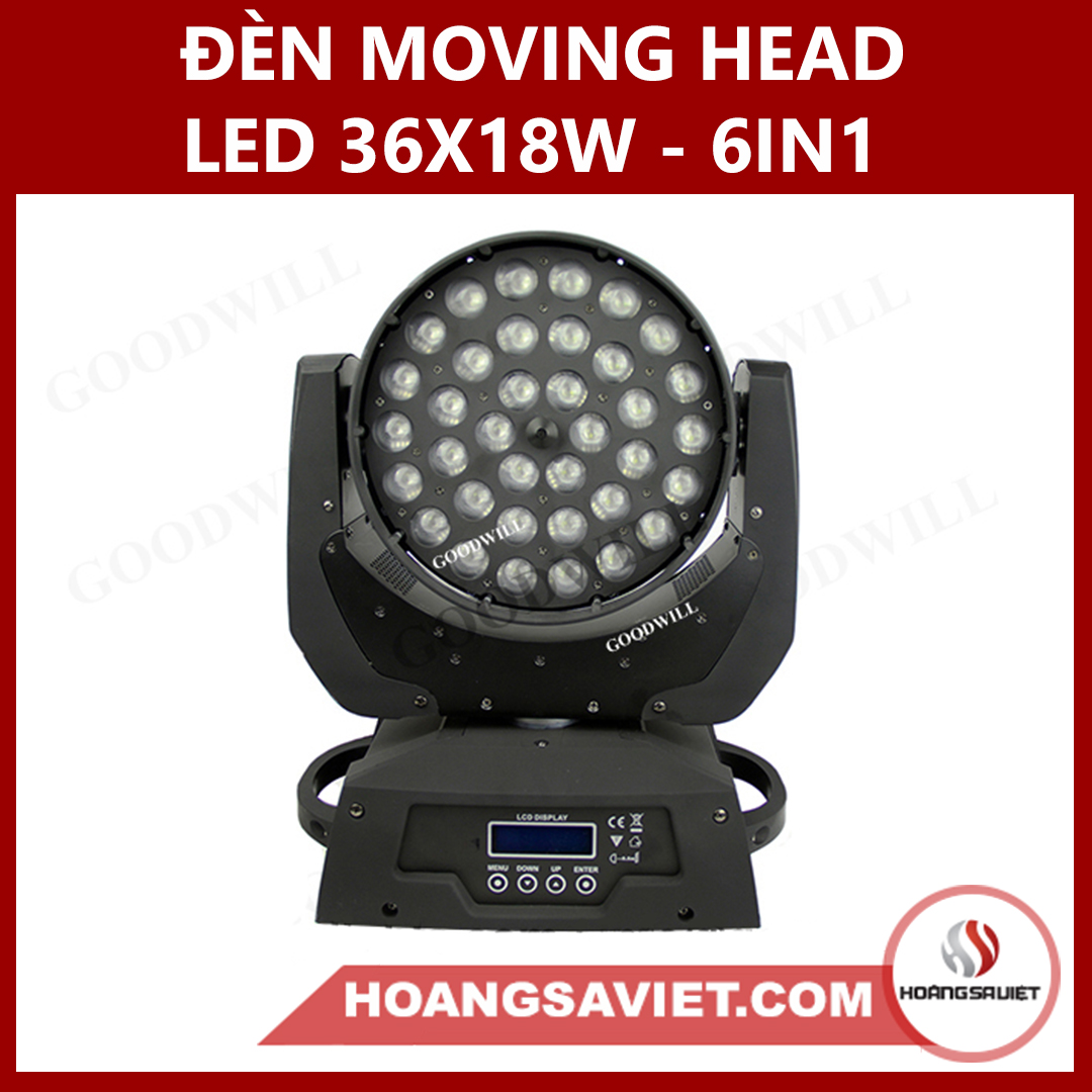 Đèn Moving Head Led 36X18W - 6IN1