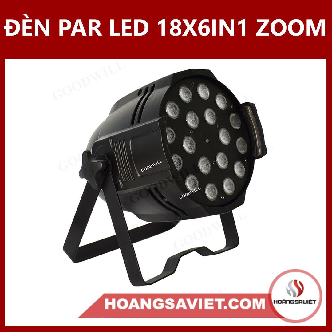 Đèn Par Led 18X6IN1 Zoom