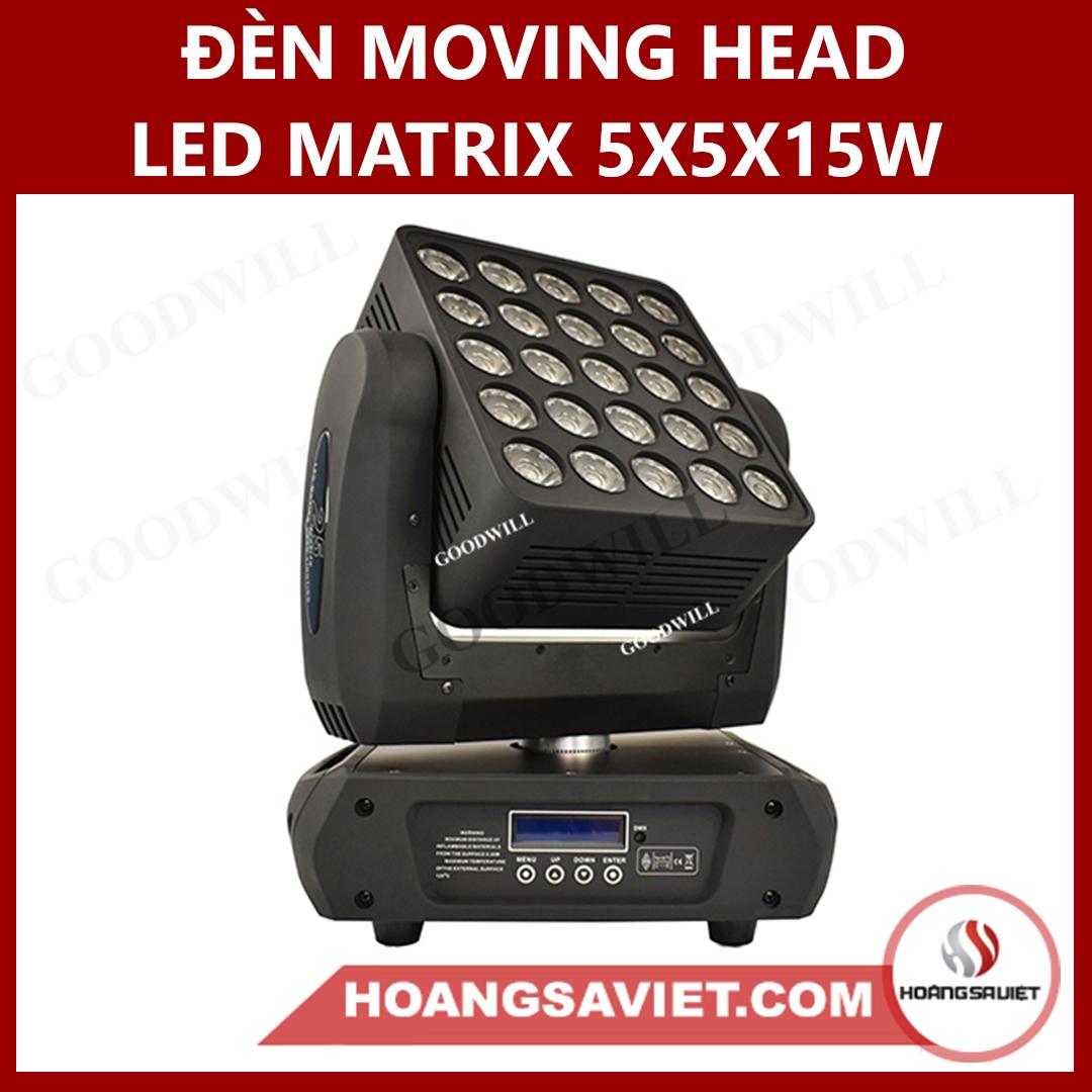 Đèn Moving Head Led Matrix 5X5X15W