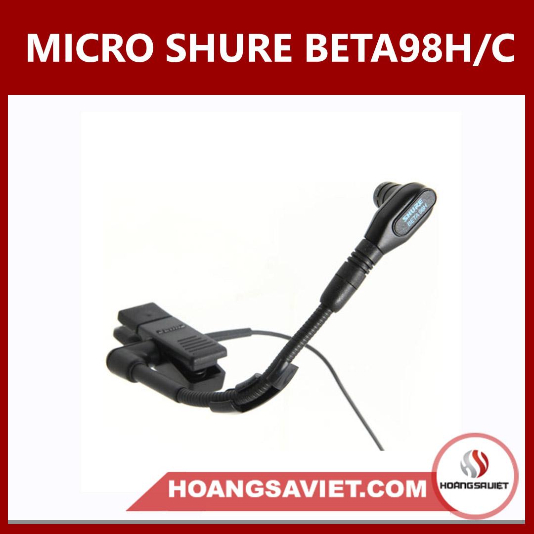 Micro Shure BETA 98H/C