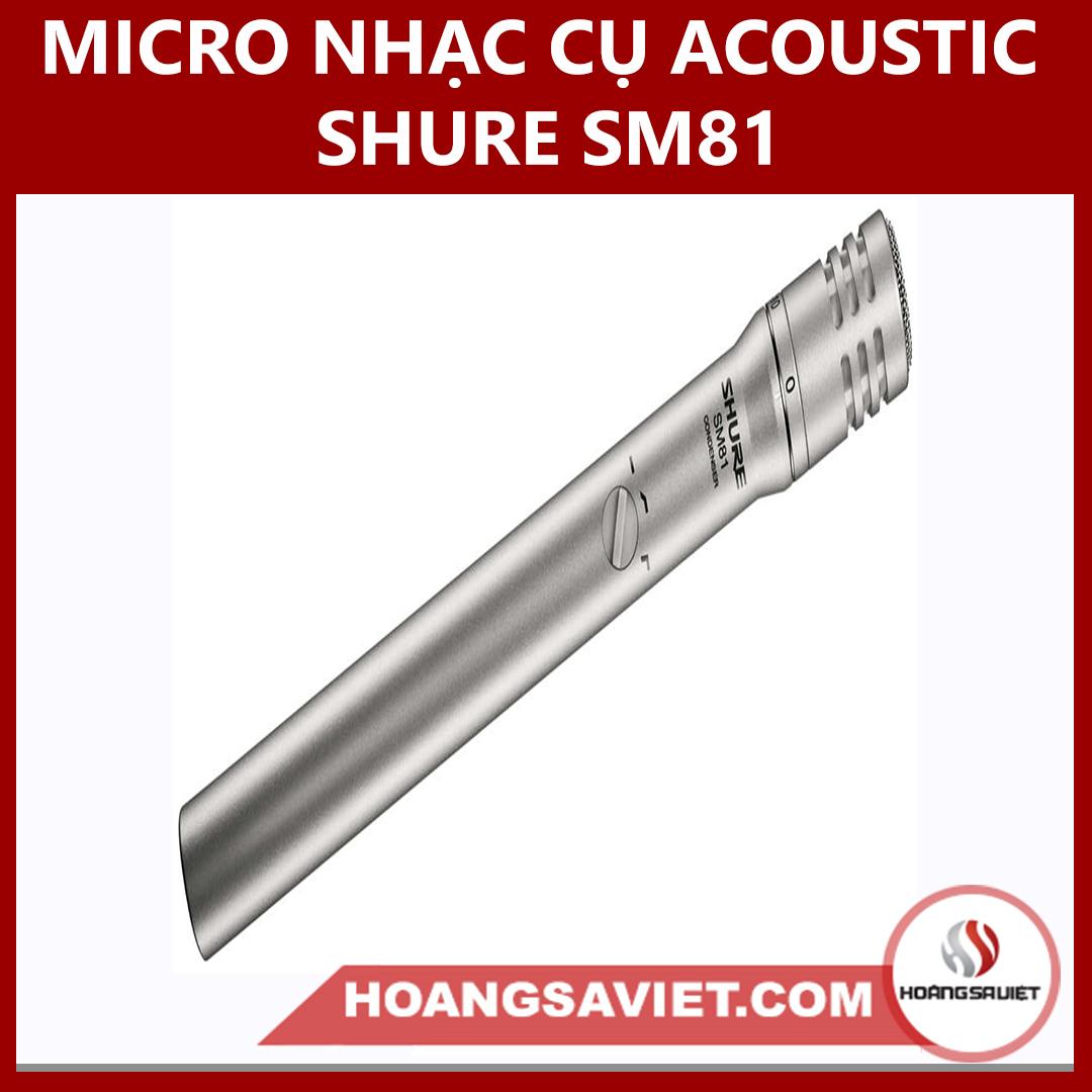 Micro Nhạc Cụ Acoustic Shure SM81
