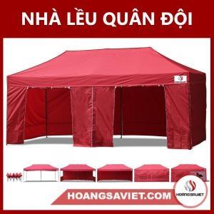 Nhà Lều Bạt Quân Đội 3mx6m - Có Bạt Quây Xung Quanh