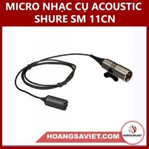 Micro Nhạc Cụ Acoustic Shure SM 11-CN