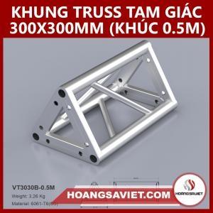 Khung Truss 300x300mm (Khúc 0.5m) VT3030B_0.5m (tam Giác)